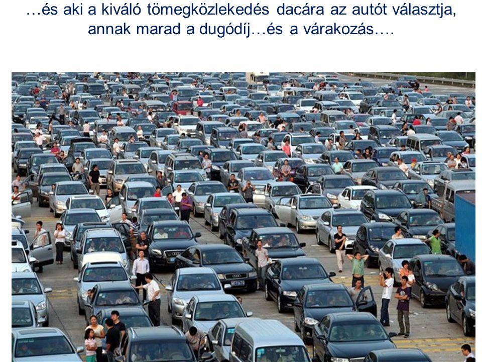 …és aki a kiváló tömegközlekedés dacára az autót választja, annak marad a dugódíj…és a várakozás….