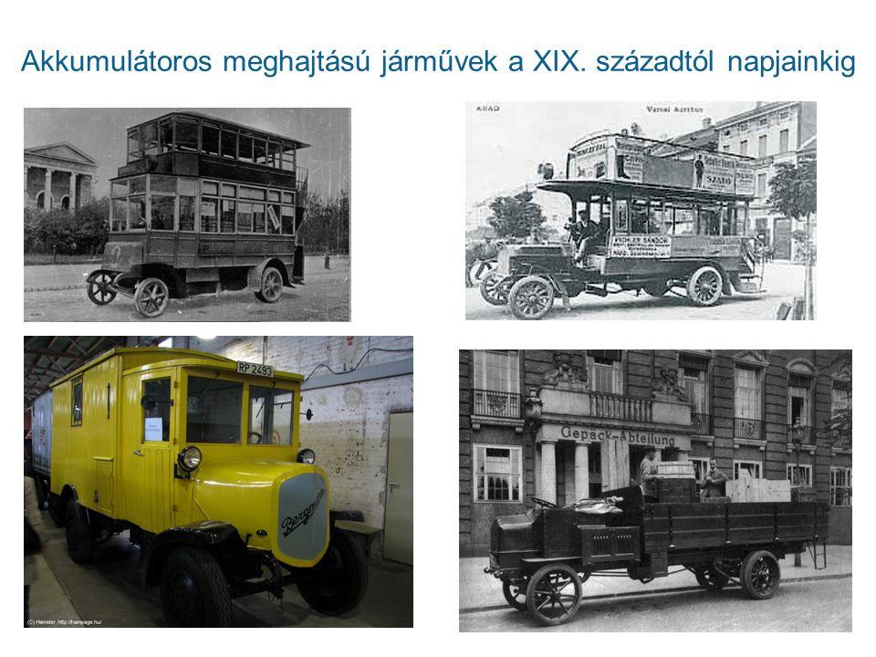 Akkumulátoros meghajtású járművek a XIX. századtól napjainkig