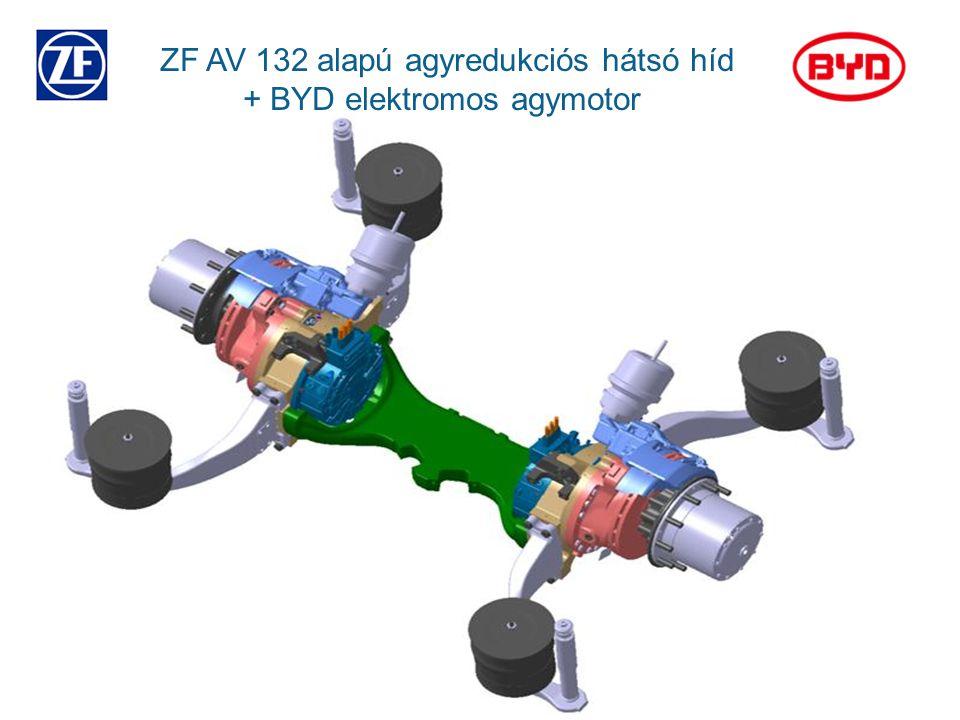 ZF AV 132 alapú agyredukciós hátsó híd + BYD elektromos agymotor