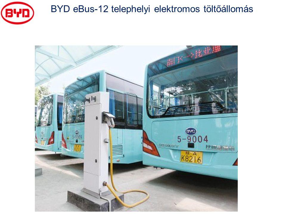 BYD eBus-12 telephelyi elektromos töltőállomás