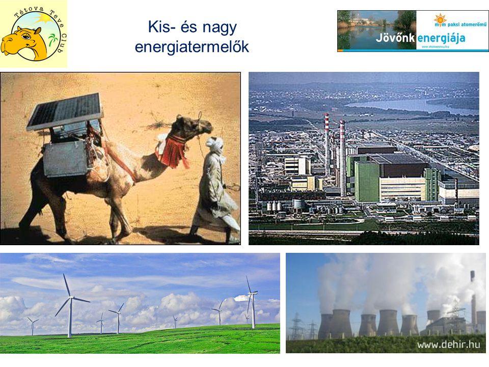 Kis- és nagy energiatermelők