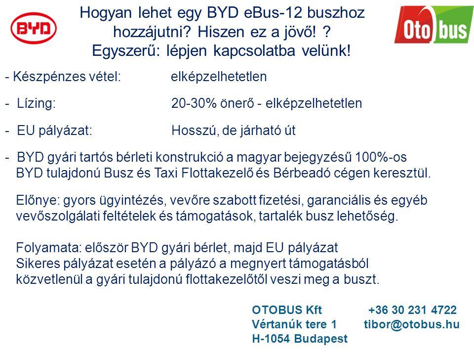 Hogyan lehet egy BYD eBus-12 buszhoz hozzájutni Hiszen ez a jövő!