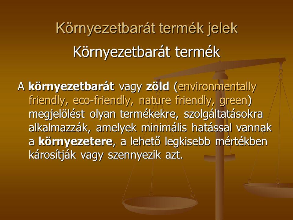 Környezetbarát termék jelek