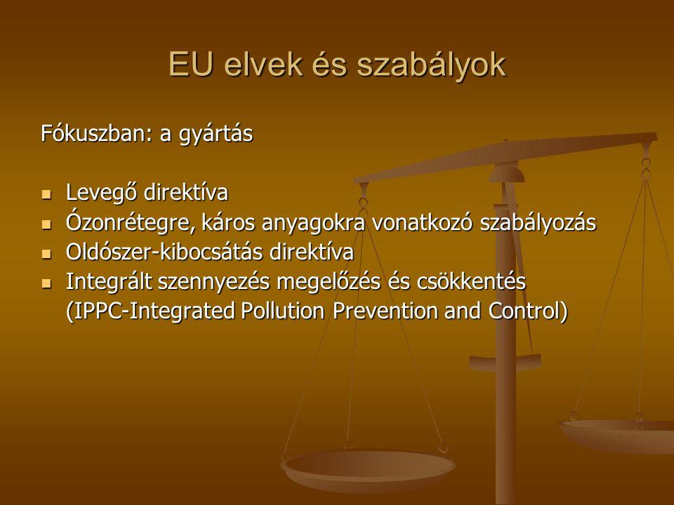 EU elvek és szabályok Fókuszban: a gyártás Levegő direktíva