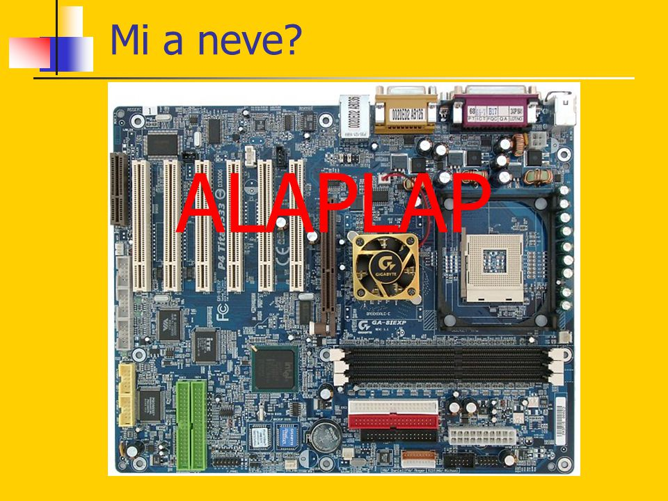 Mi a neve ALAPLAP