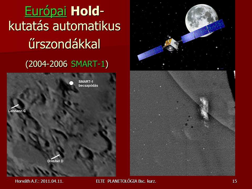 Európai Hold-kutatás automatikus űrszondákkal (2004-2006 SMART-1)