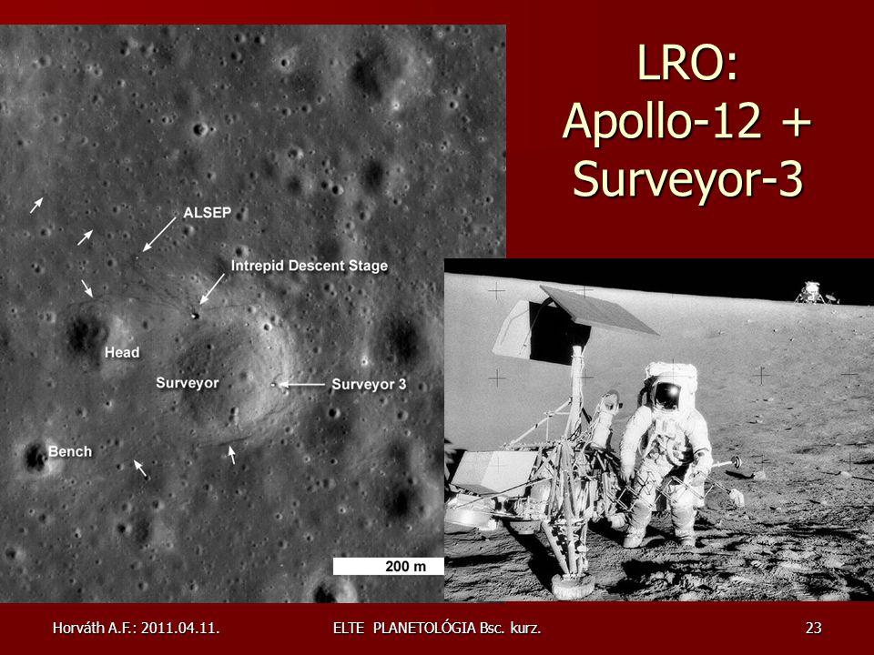LRO: Apollo-12 + Surveyor-3