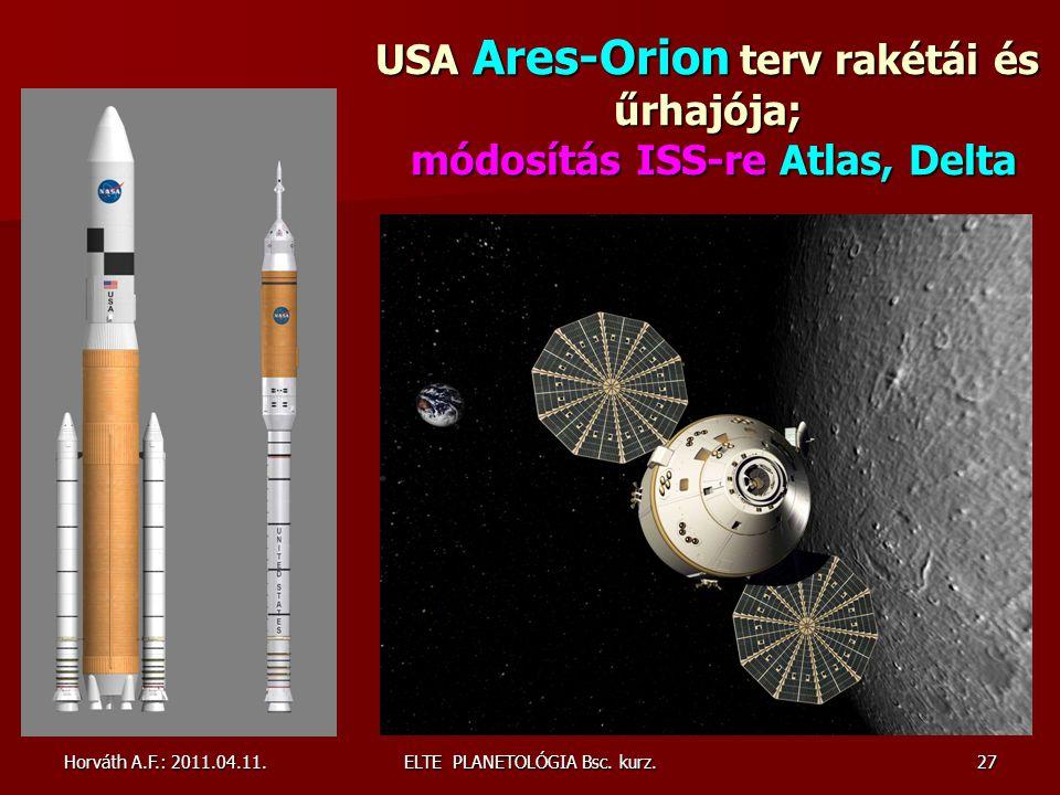 USA Ares-Orion terv rakétái és űrhajója; módosítás ISS-re Atlas, Delta