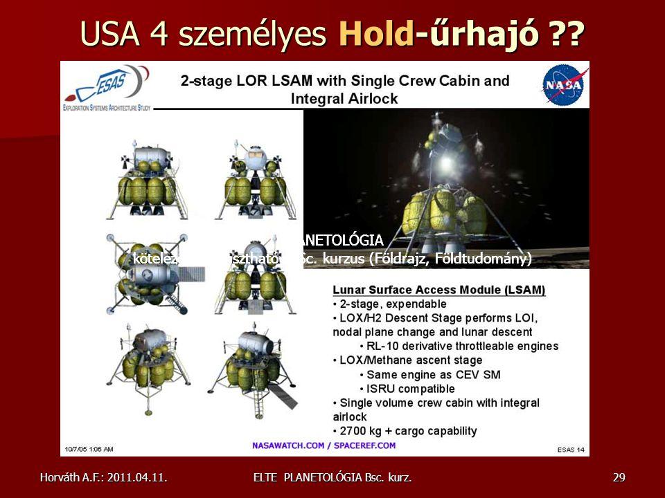 USA 4 személyes Hold-űrhajó