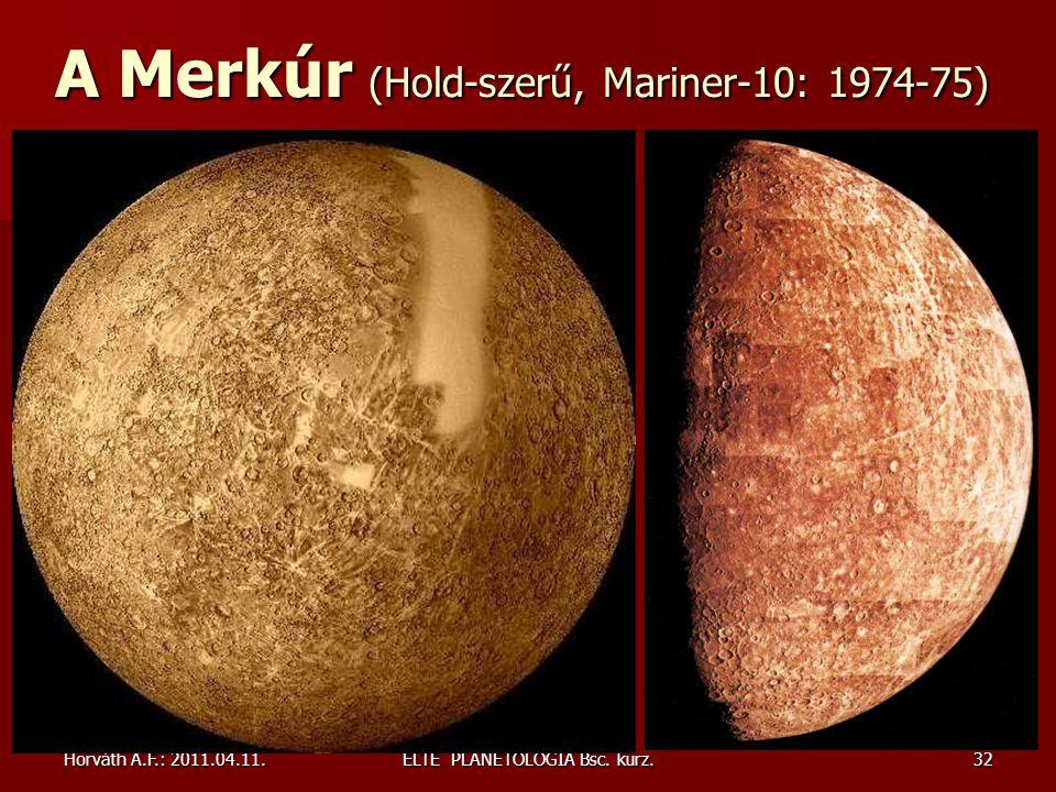 A Merkúr (Hold-szerű, Mariner-10: 1974-75)