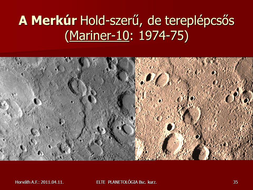 A Merkúr Hold-szerű, de tereplépcsős (Mariner-10: 1974-75)