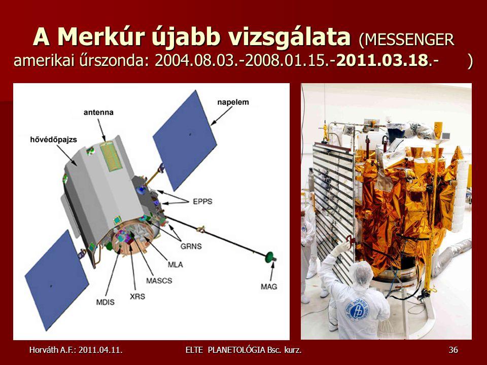ELTE PLANETOLÓGIA Bsc. kurz.