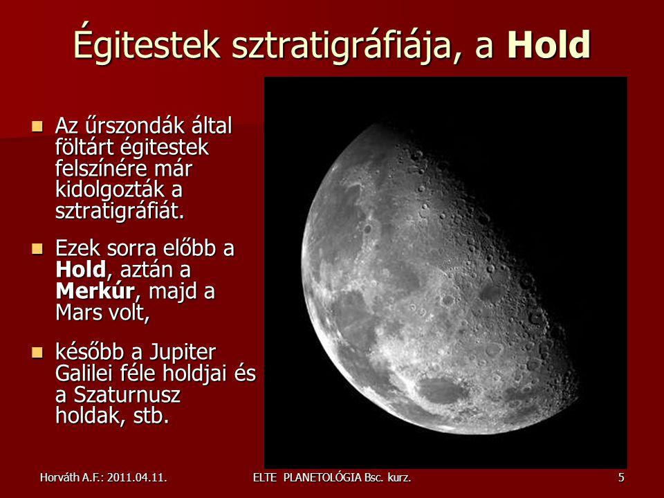 Égitestek sztratigráfiája, a Hold