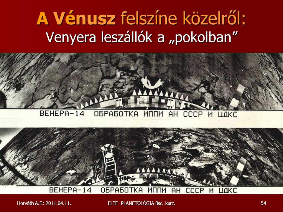 """A Vénusz felszíne közelről: Venyera leszállók a """"pokolban"""