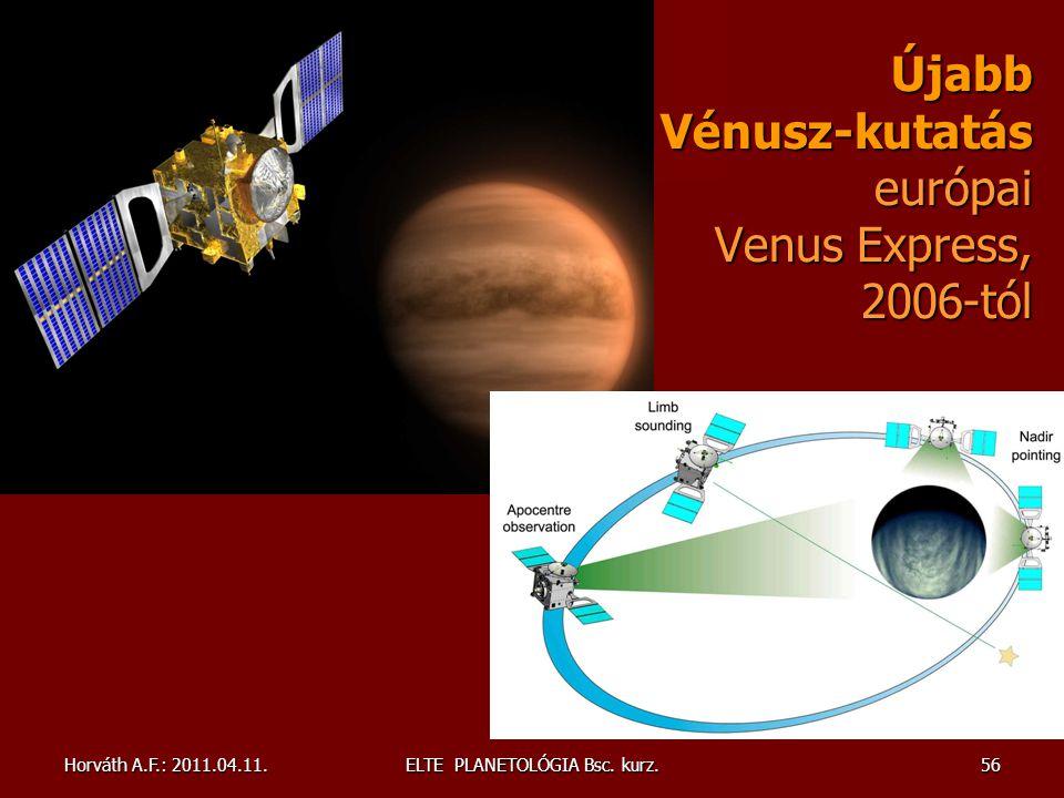 Újabb Vénusz-kutatás európai Venus Express, 2006-tól