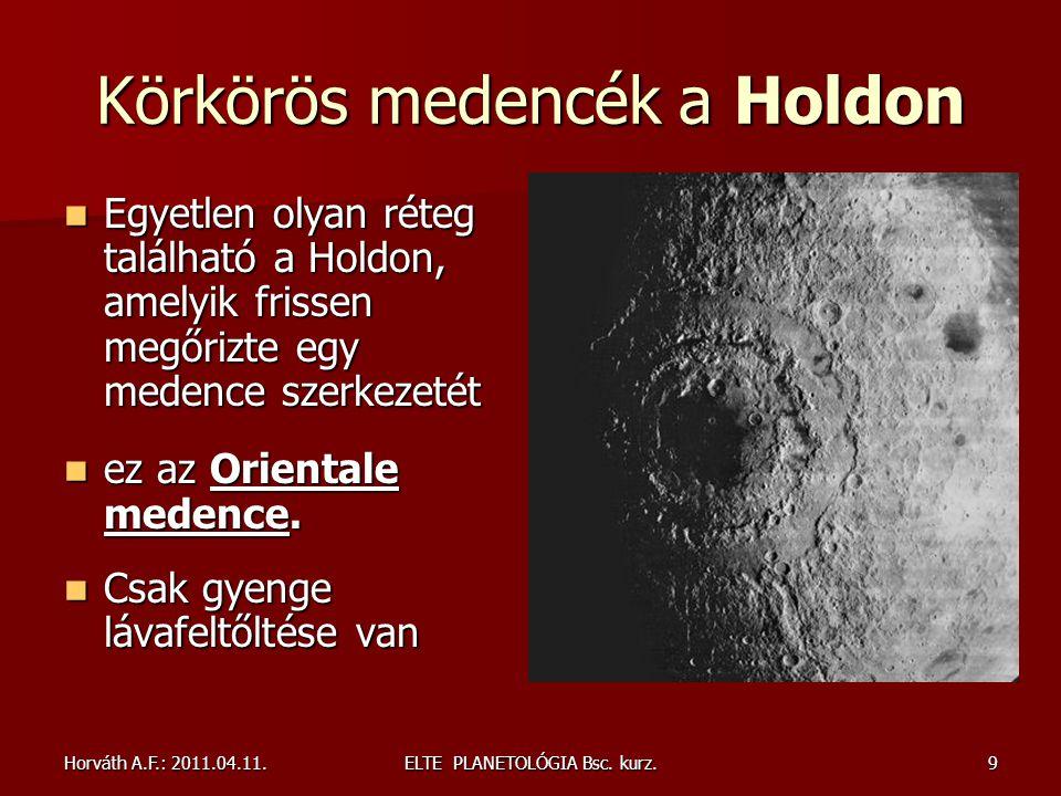 Körkörös medencék a Holdon