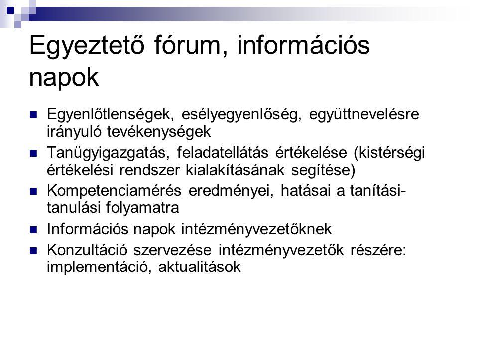 Egyeztető fórum, információs napok