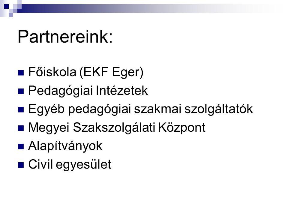 Partnereink: Főiskola (EKF Eger) Pedagógiai Intézetek