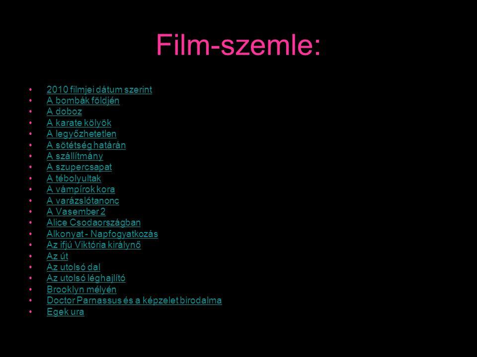 Film-szemle: 2010 filmjei dátum szerint A bombák földjén A doboz