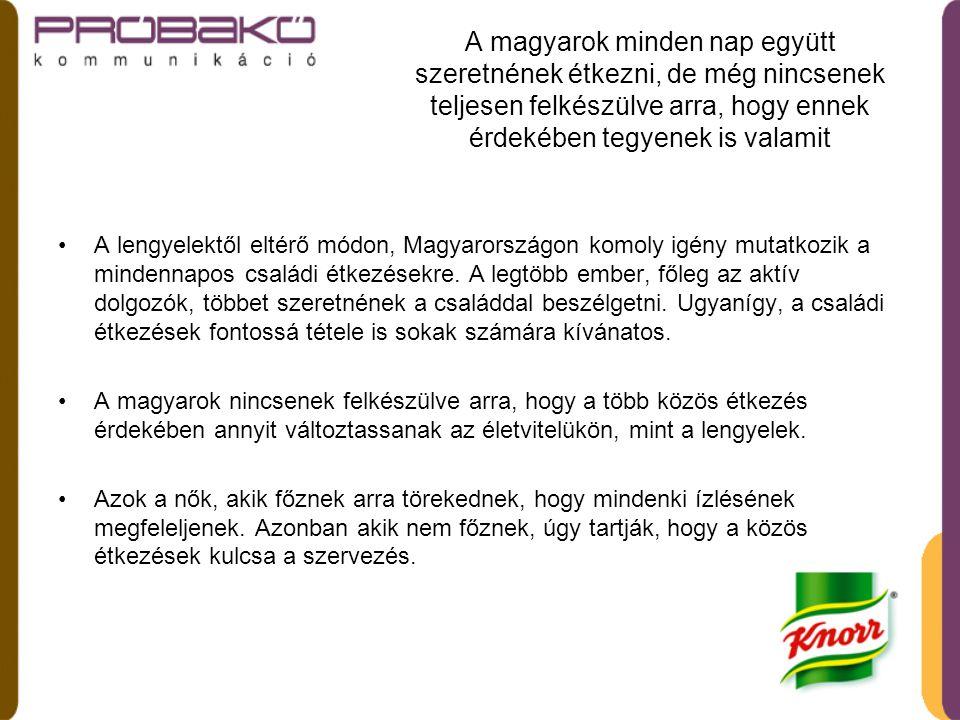 A magyarok minden nap együtt szeretnének étkezni, de még nincsenek teljesen felkészülve arra, hogy ennek érdekében tegyenek is valamit