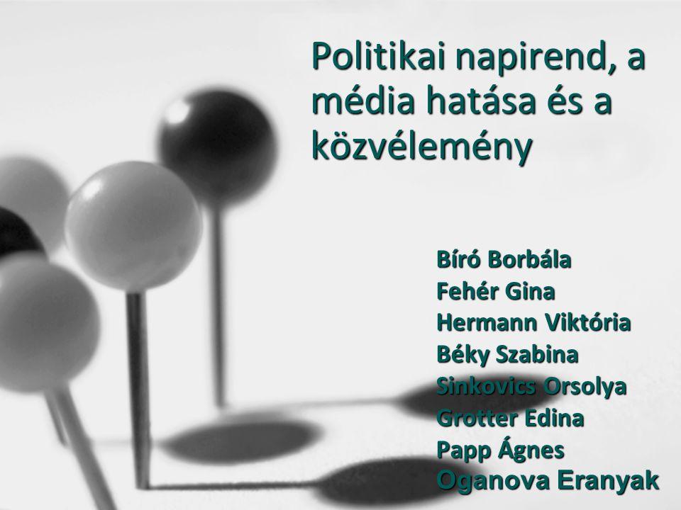 Politikai napirend, a média hatása és a közvélemény