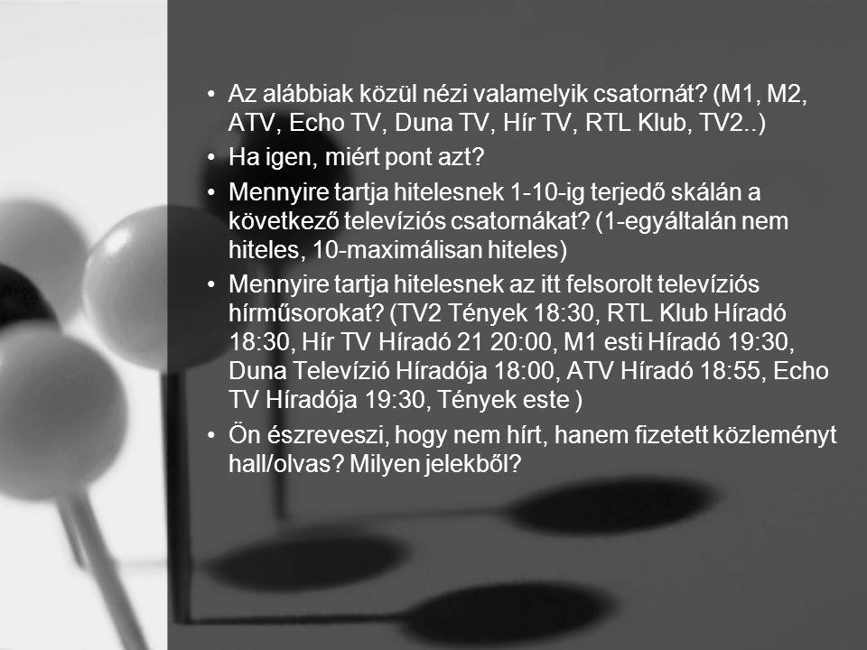 Az alábbiak közül nézi valamelyik csatornát