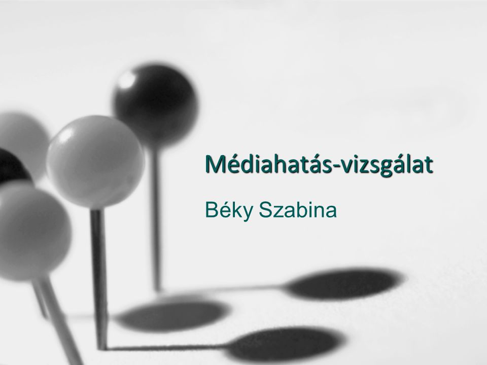 Médiahatás-vizsgálat