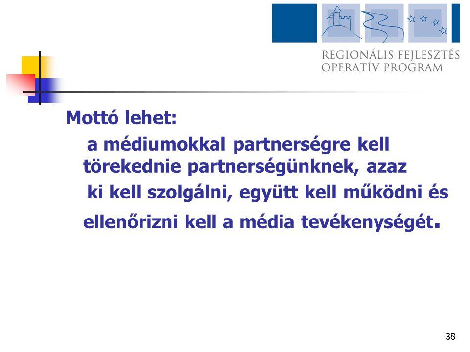 Mottó lehet: a médiumokkal partnerségre kell törekednie partnerségünknek, azaz.