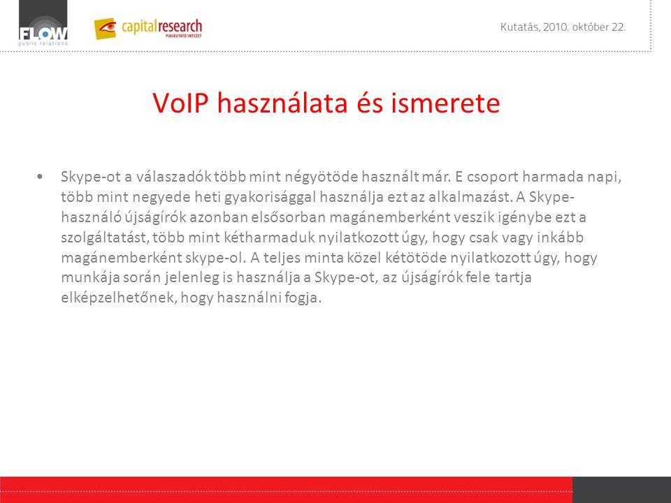 VoIP használata és ismerete