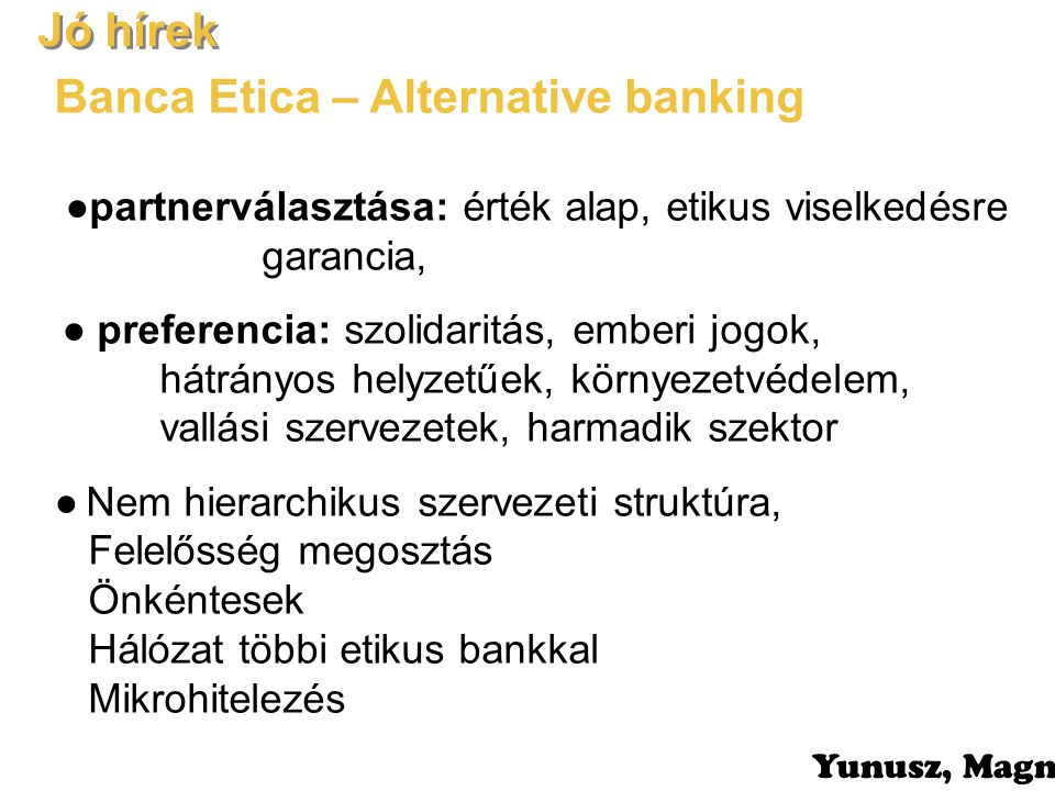 Banca Etica – Alternative banking