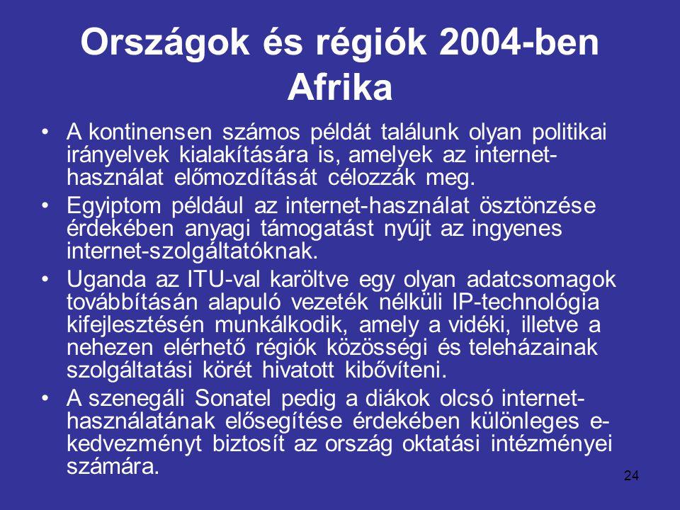 Országok és régiók 2004-ben Afrika
