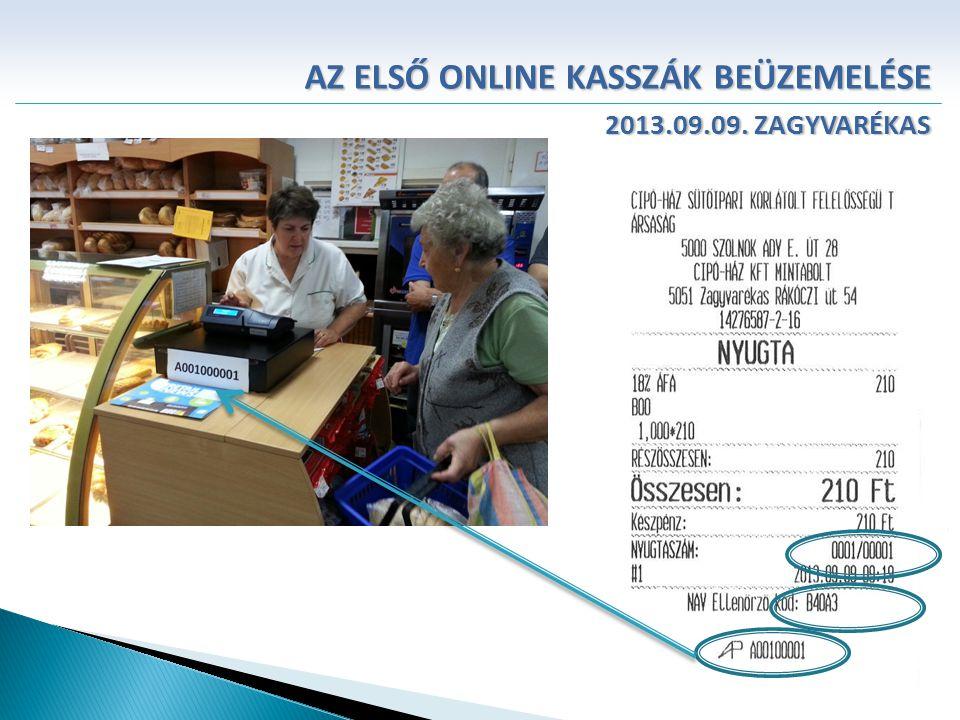 AZ ELSŐ ONLINE KASSZÁK BEÜZEMELÉSE 2013.09.09. ZAGYVARÉKAS