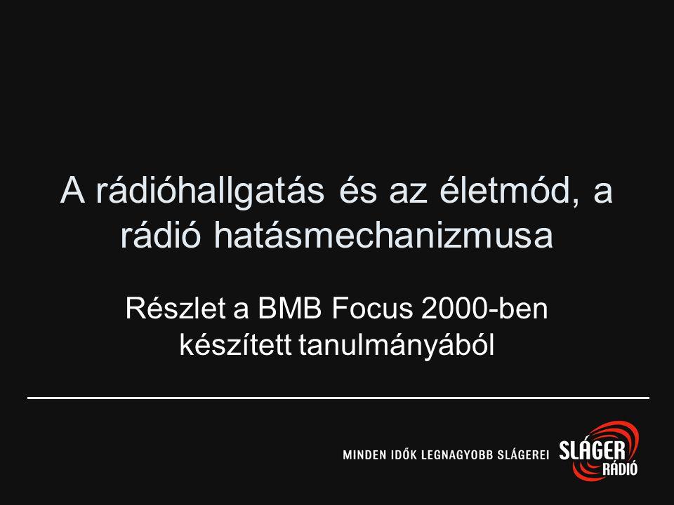 A rádióhallgatás és az életmód, a rádió hatásmechanizmusa