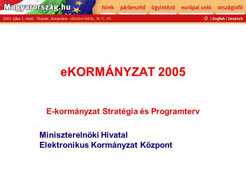 E-kormányzat Stratégia és Programterv