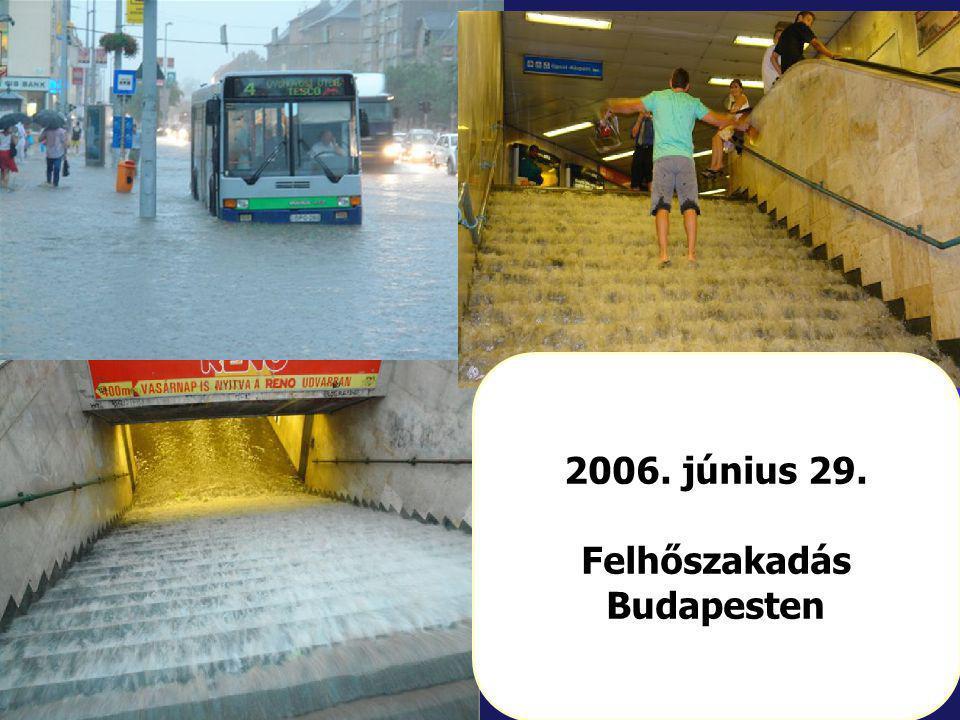 Felhőszakadás Budapesten
