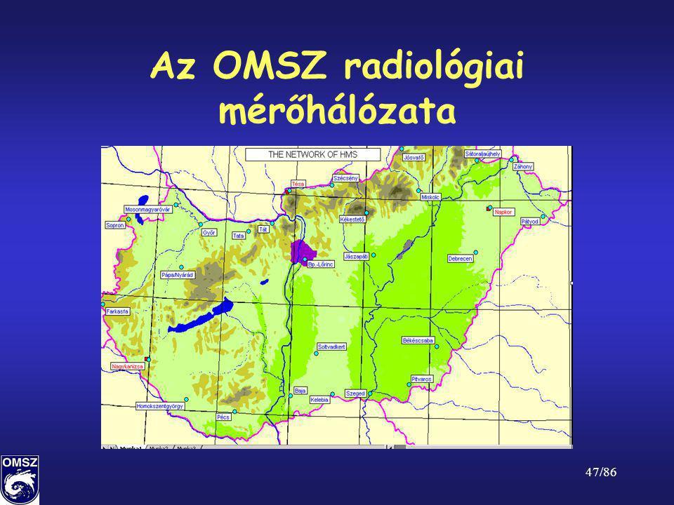Az OMSZ radiológiai mérőhálózata