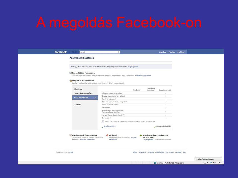 A megoldás Facebook-on