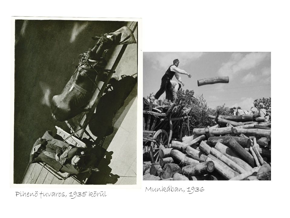 Munkában, 1936 Pihenö fuvaros, 1935 körül