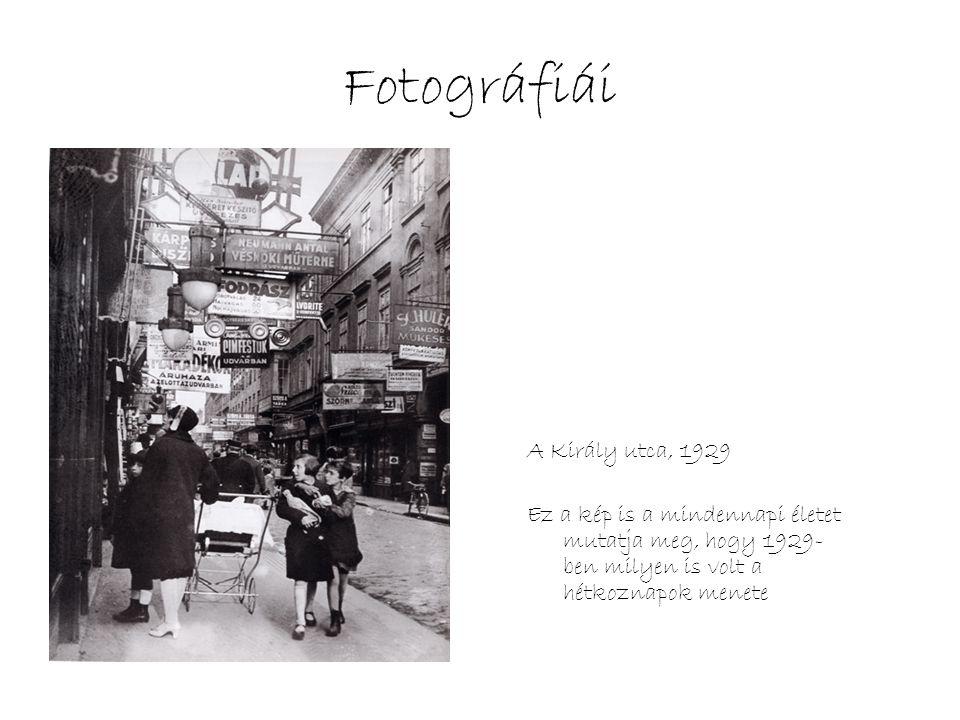 Fotográfiái A Király utca, 1929