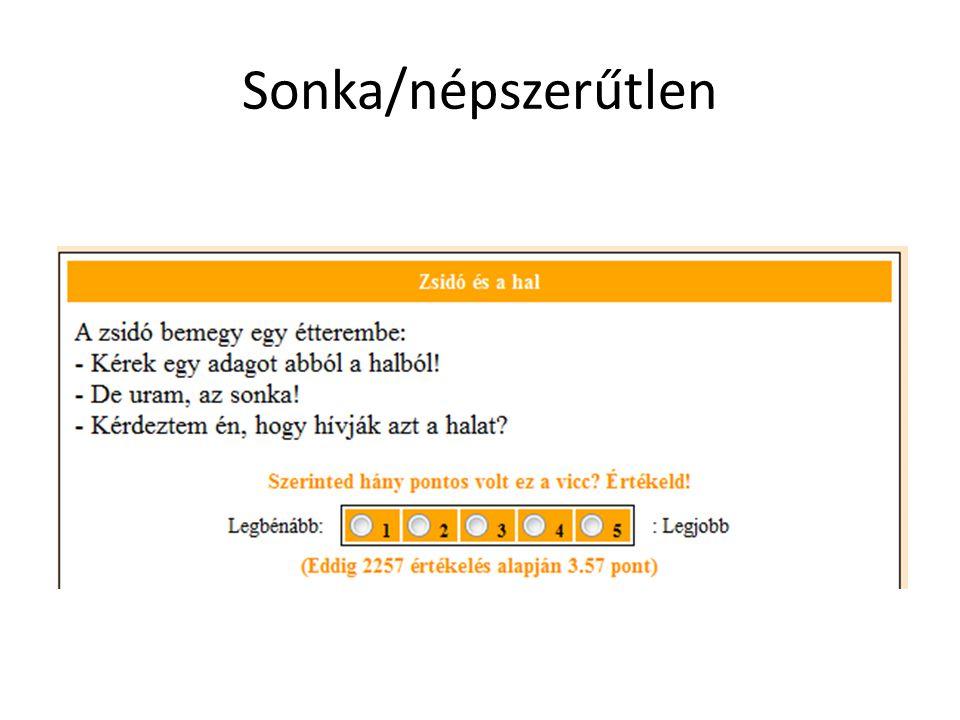 Sonka/népszerűtlen