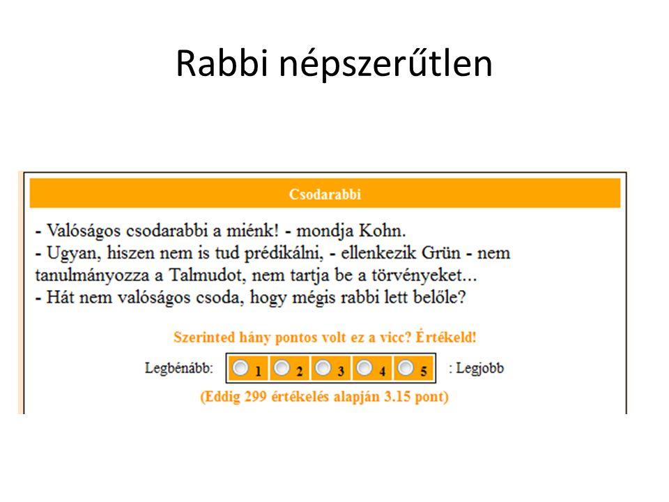 Rabbi népszerűtlen