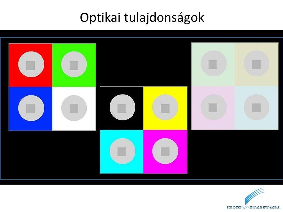Optikai tulajdonságok
