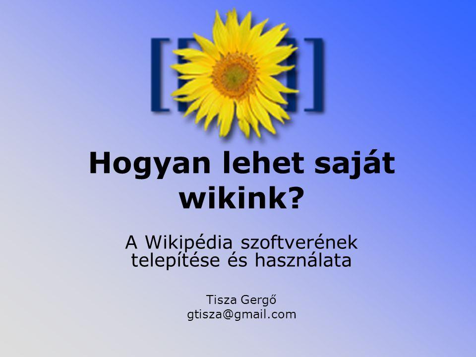 Hogyan lehet saját wikink