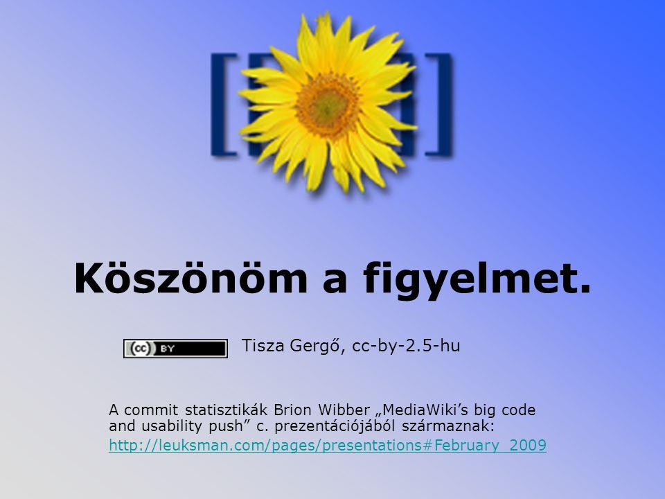 Köszönöm a figyelmet. Tisza Gergő, cc-by-2.5-hu