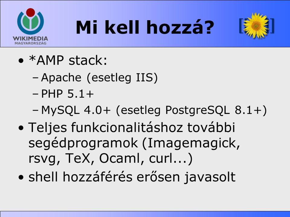 Mi kell hozzá *AMP stack: