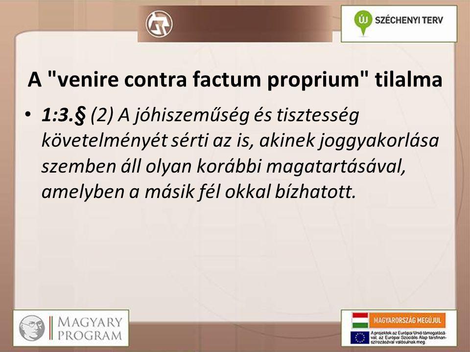 A venire contra factum proprium tilalma