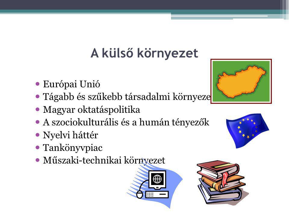 A külső környezet Európai Unió Tágabb és szűkebb társadalmi környezet