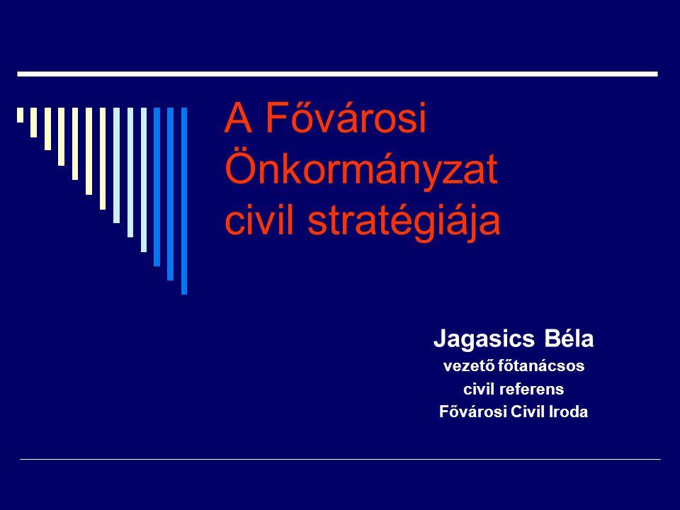 A Fővárosi Önkormányzat civil stratégiája