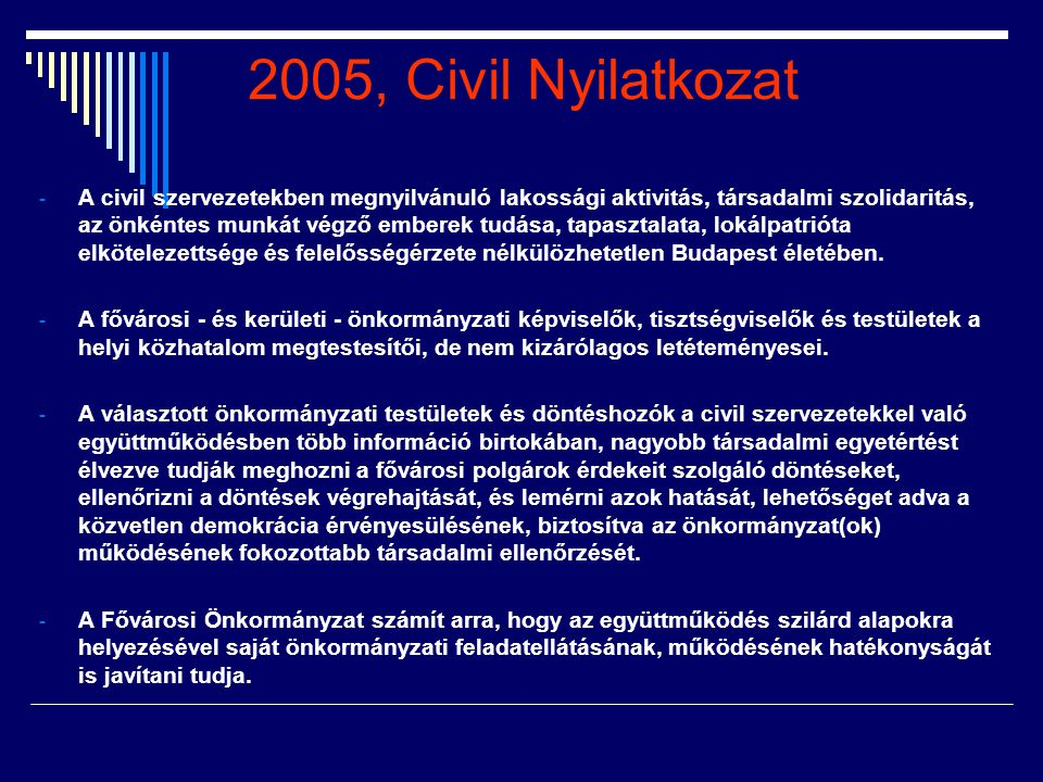 2005, Civil Nyilatkozat