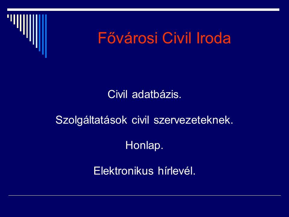Fővárosi Civil Iroda Civil adatbázis.